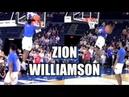 Zion Williamson Duke Warm-Up Dunks! Head Above the Rim!