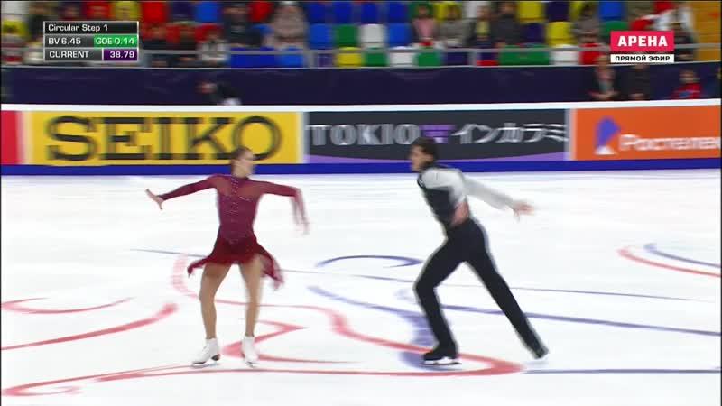 Rostelecom Cup 2018. Ice Dance - FD. Annabelle MOROZOV _ Andrei BAGIN