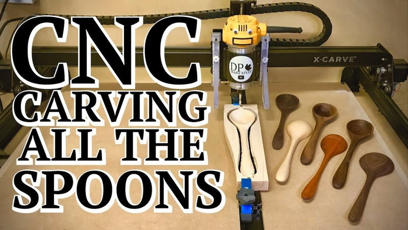 CNC Spoons \ Two Sided Milling Jig Easy 🥄