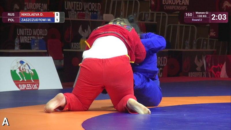 Round 2 Women-Gi - 71 kg: D. NIKOLAEVA (RUS) v. M. ZASZCZUDŁOWI (POL)