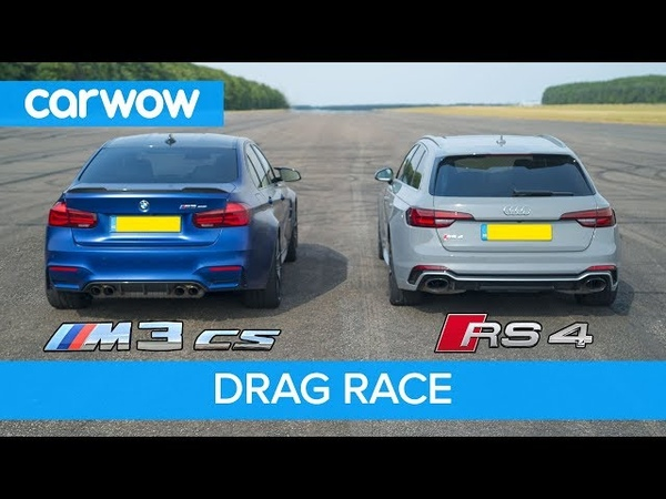 BMW M3 CS vs Audi RS4 - review DRAG RACE, ROLLING RACE BRAKE TEST