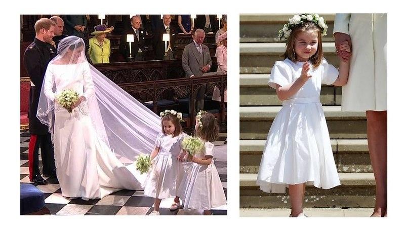CUTE PRINCESS CHARLOTTE AS BRIDESMAID AT PRINCE HARRY WEDDING!!