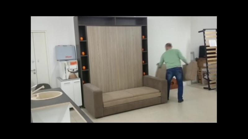 Шкаф-кровать в действии