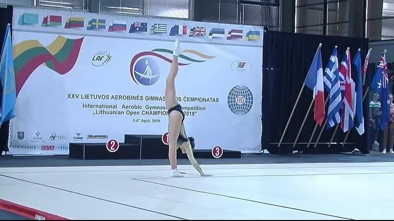 2nd International Aerobic Gymnastics Competition Lithuanian Open CHAMPIONSHIP 2019. IW Yuliia Samoilenko