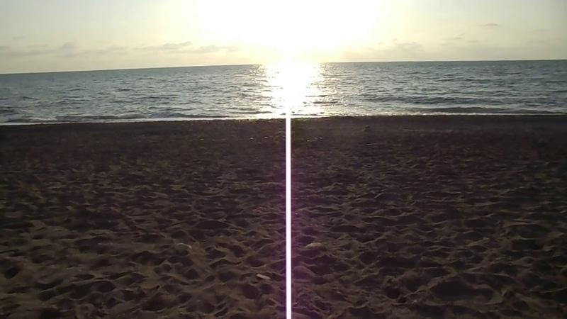 Море, пляж в Адлере 11-го октября.
