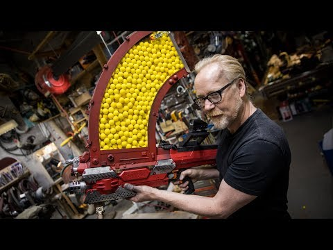 Adam Savages One Day Builds 1000 Shot NERF Blaster!