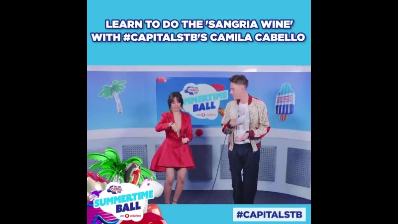 Camila teaches Sangria Wine dance backstage at Capitals Summertime Ball