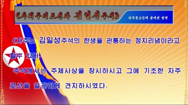 《사회주의조선과 김일성주석》 민주꽁고단체 뷸레찐 발행 외 1건