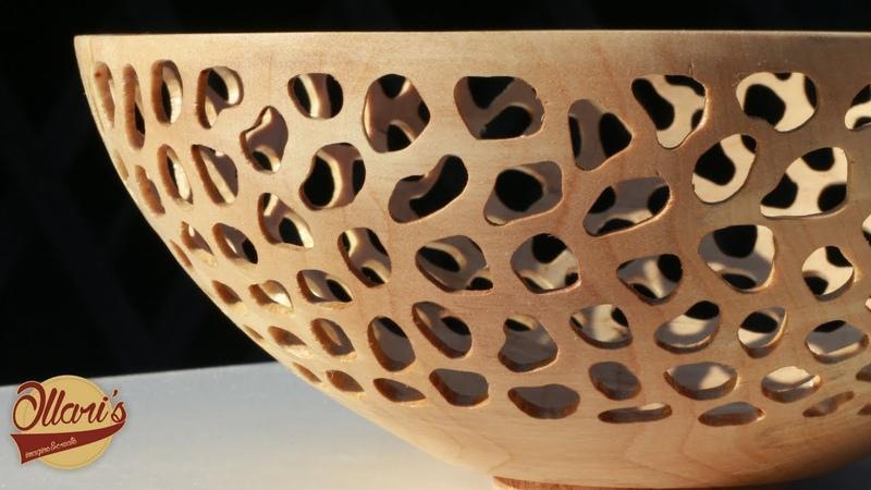 Декорирование ТОКАРКИ(Прорезание бормашинкой! How to Make a Beautiful Bowl from Worthless Log