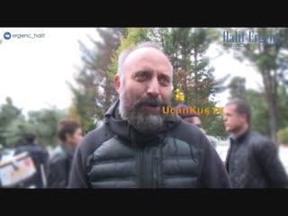 Халит Эргенч на похоронах отца Мехмета Гюнсура (08.11.2018)
