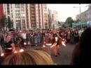 Фаершоу на фестивале водных фанариков.
