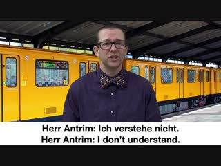 Ich spreche kein deutsch - beginner german with herr antrim lesson #5
