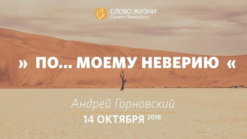 По... моему неверию - Андрей Горновский, Слово Жизни, г. Санкт-Петербург