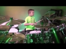 MONEY FOR NOTHING - Dire Straits 7 year old Drummer Drum Cover by Avery Drummer Molek