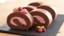 ラズベリーショコラ・ロールケーキの作り方 Raspberry Chocolat Swiss Roll Cake|HidaMari Cooking