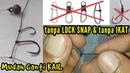 Cara Membuat Simpul Pancing Dasaran Mudah Ganti Kail    tanpa Ikat Lock Snap