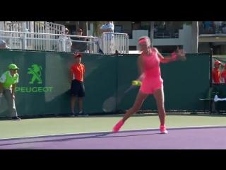 «high quality tennis by both players! vika7 stretches