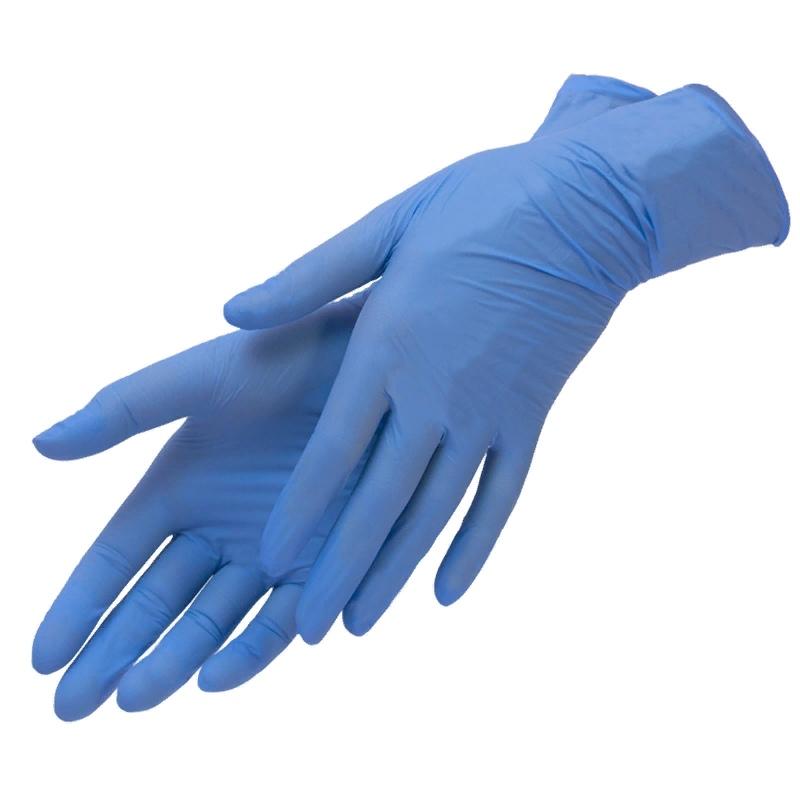 нитриловые синие перчатки