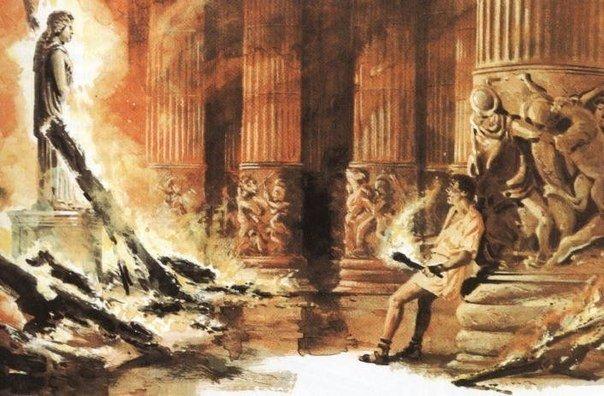 21 июля 356 года до нашей эры молодой житель Эфеса по имени Герострат, желая прославиться, поджег одно из семи чудес античного мира  храм богини Артемиды.