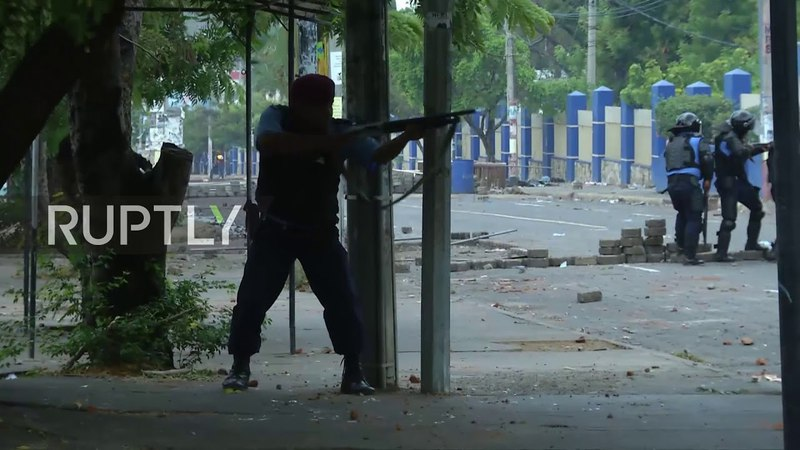 Nicaragua: Protesters clash violently with police as protests in Managua continue