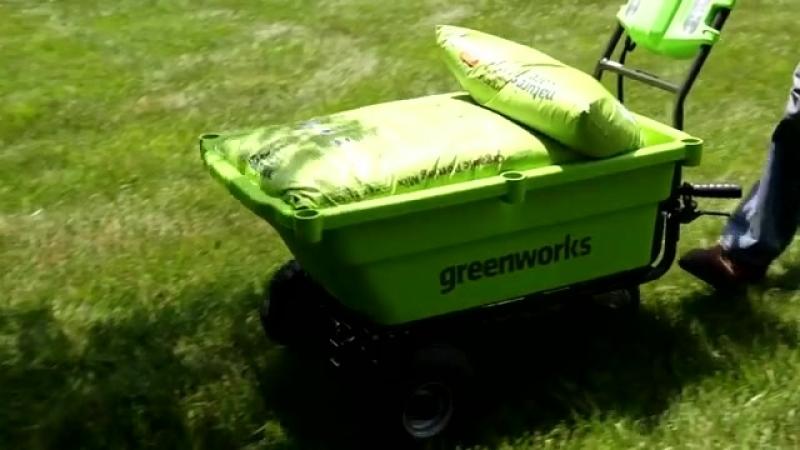 GreenWorks 40V Self-Propelled Wheelbarrow.mp4