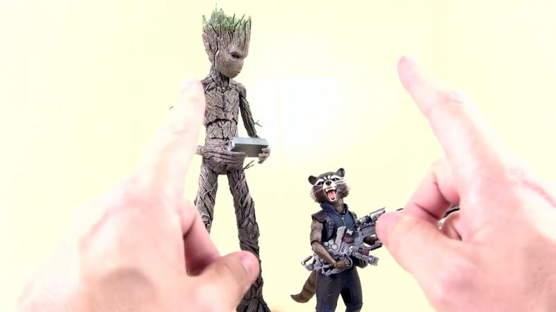 [Optibotimus Eng] Hot Toys MMS476: Avengers Infinity War - Groot Rocket set 1/6