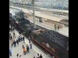 Ретро-поезд «Победа» прибыл в Краснодар