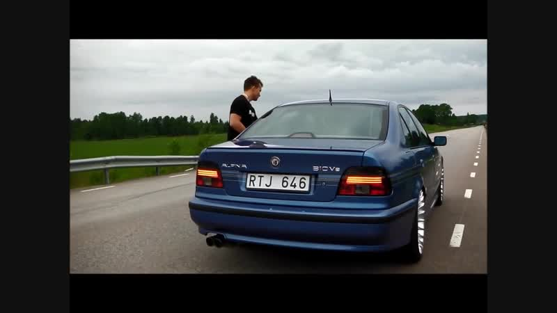 Alpina B10 V8 Estorilblue 368HP Walkaround Drive-by w_ Custom Exhaust