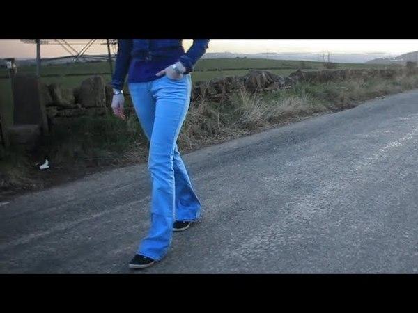 Walking in Miss Sixty Ultra Low skinny bootcut jeans