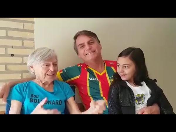 JAIR BOLSONARO apresenta sua MÃE de 90 anos