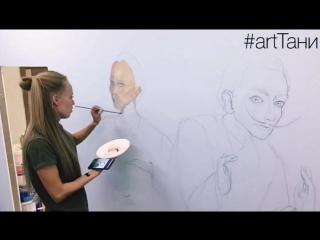 art Тани. арт студия разрисованные стены в мировых художниках