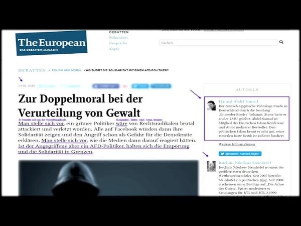 Aktuell: The European: Hamed Abdel-Samad und Steinhöfel instrumentalisieren Frank Magnitz
