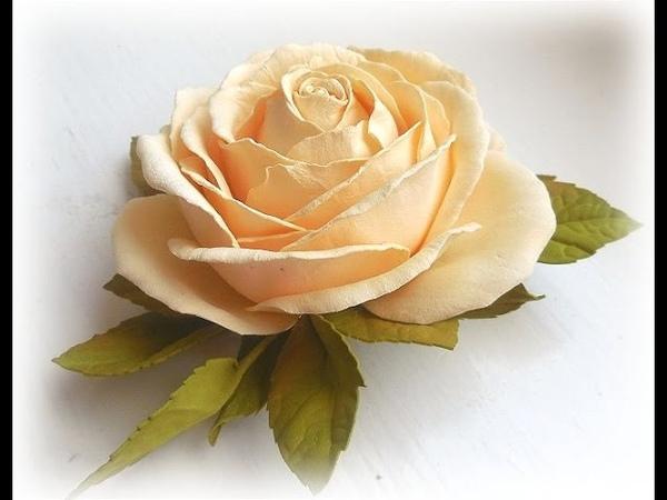 МК Роза из фоамирана своими руками. Foam Rose flowers Hand Made