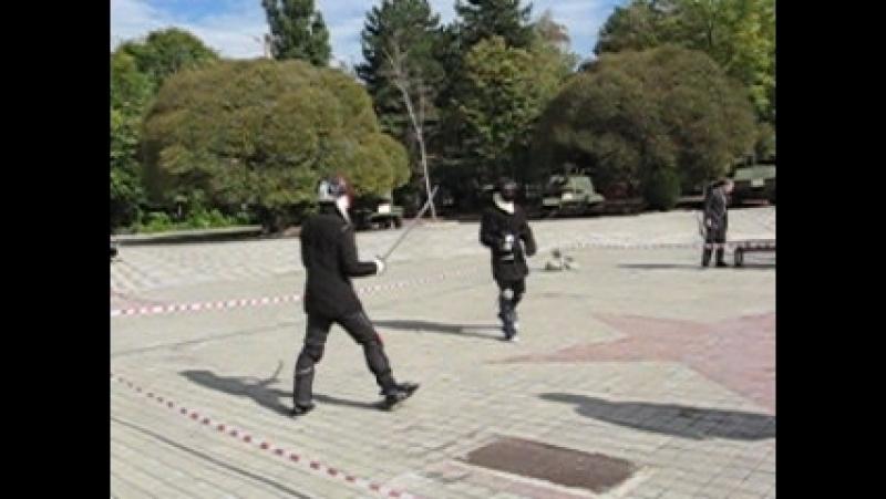 й чемпионат г Краснодара по фехтованию на саблях 2012г Бандурин А Нгуньен Ф