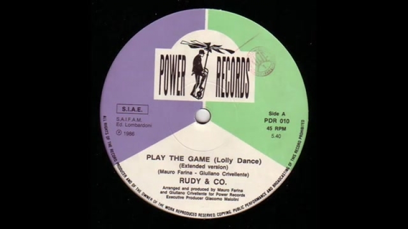 RUDY CO. - PLAY THE GAME (LOLLY DANCE) (℗1986)