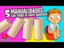 5 MANUALIDADES CON TUBOS DE PAPEL HIGIÉNICO Manualidades Reciclaje DIY