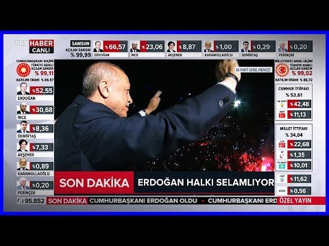 Başkan Erdoğanın Balkon Konuşması 24.6.2018