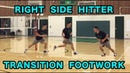 Right Side Hitter TRANSITION FOOTWORK - Volleyball Tutorial