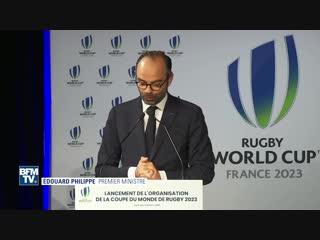 « Sucer... » Lapsus et fou rire Edouard Philippe devant le gratin du rugby français