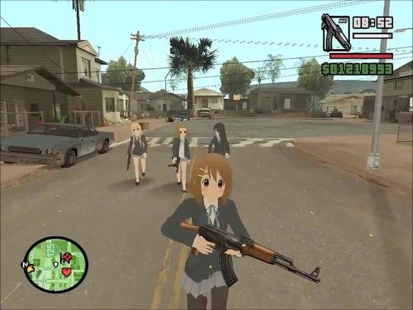 GTA SA - This is K-On City | K-On! Anime Mod Montage | HD!