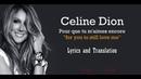 Céline Dion - Pour Que Tu M'aimes Encore (Lyrics and Translation)