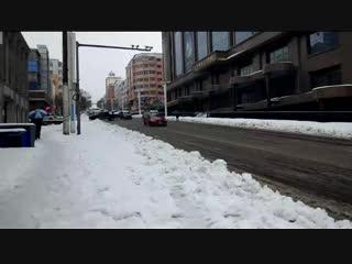 Осенне-зимняя жопа в Суньке. Обильный снег с дождем