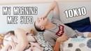 10X10 | МОЕ УТРО | С КЕМ СПИТ ИЛЬЯ БЕЛОВ | CHALLENGE ОТ АДУШКИНОЙ