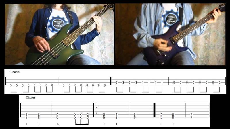 4) Rammstein - Du Riechst So Gut (Bass Guitar lesson TAB   Cover HD)