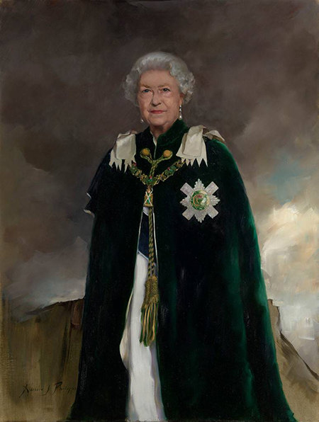 Появился новый, официальный портрет Елизаветы 2!