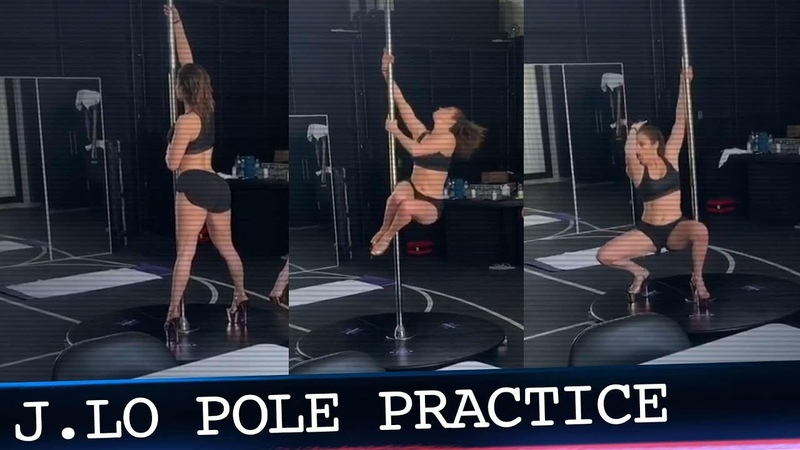 """J.Lo Rocks the Pole During Practice for New Movie """"The Hustlers at Scores"""""""