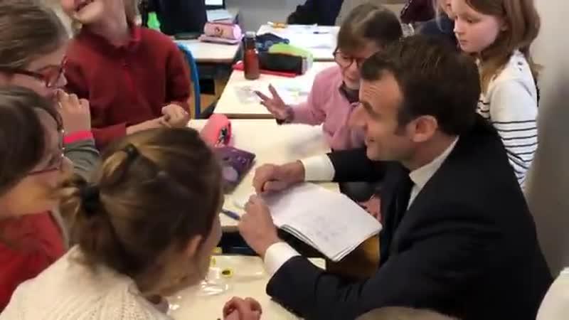 Macron à l'école intercommunale de Saint-Sozy : planquez vos enfants !