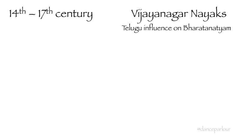 Historical perspective on Bharatanatyam Part 3 The time of Vijaynagar Nayaks and Marathas