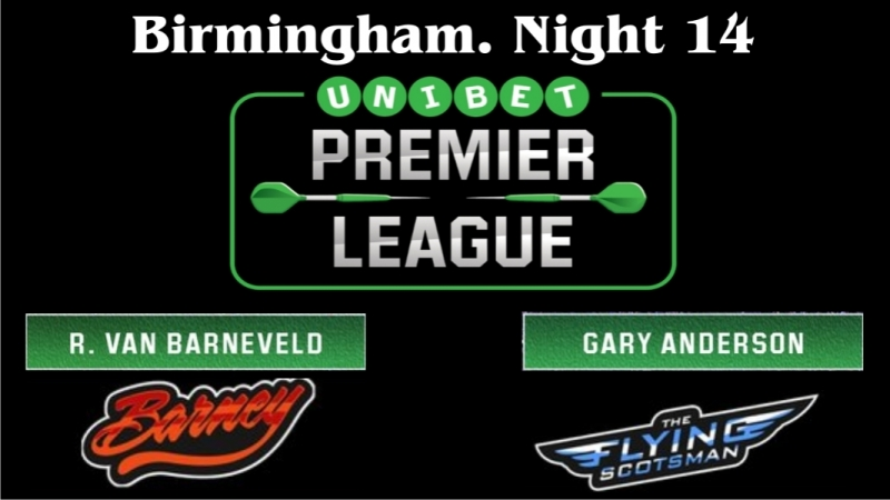 Raymond van Barneveld vs Gary Anderson Week 14 Premier League Darts 2018