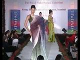 Bollywood Actress Deepika Padukone walks the ramp for Satya Paul